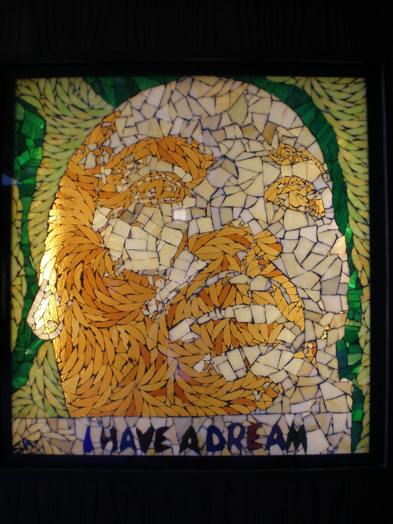 Seymour Adelman 1977 'Martin Luther King Jr 'I Have a Dream' Smith Stained Glass Museum, Chicago