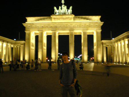 Puerta de Brandemburgo de noche