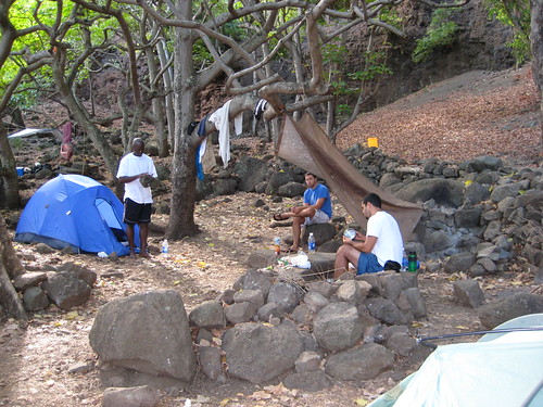 Our camp at Kalalau beach