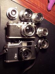 Leica LTM (screw mount) lens collection (jiulong) Tags: 35mmsummaron 50mmsummitar 50mmelmar 50mmsummar 35mmelmar 28mmcolorskopar50mmcollapsiblesummicronleicaiiia