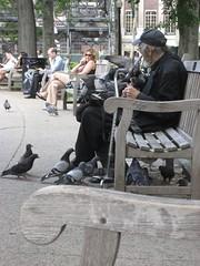 Pigeon Man Rittenhouse Square Philadelphia (EMFPhoto) Tags: philadelphia publicmarket readingmarket