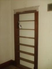 built-in shelf bedroom