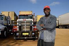 TRUCKING IN MALAWI (Claude  BARUTEL) Tags: africa portrait truck transport malawi driver