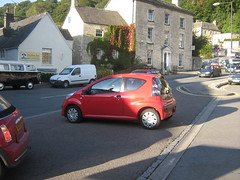 Tiny car in Nailsworth (Eleventh Earl of Mar) Tags: uk trip car britain citroen cotswolds gloucestershire tiny gb guessed stroud 2007 c1 nailsworth