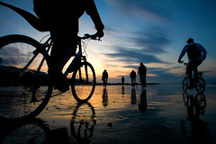 yearly yearly this morning (lomokev) Tags: silhouette silhouettes bike cycle cycleing cyclists sun sunrise cloud sky bikes brighton beach sea water early morning canoneos5d canon eos 5d canoneos eos5d lowtidebikeride motion perspective file:name=img1512edit upcoming:event=4736563253 ma upcoming:event=62242 reflection use:on=moo  fiets vlo fahrrad  bicicletta bicis brompton top10brighton rower yahoo:yourpictures=reflections posted:to=tumblr deletetag