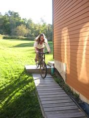 I learn to mountain bike