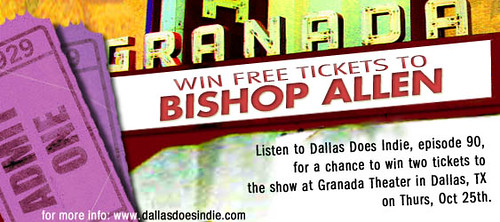 Bishop Allen ticket giveaway