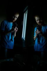 Waking up somewhere in the world (Mr-Pan) Tags: morning travel blue selfportrait hostel redhead bleu wakeup roux matin mrpan