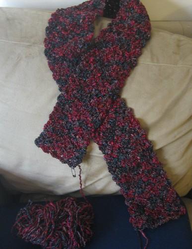 surreybelle scarf WIP