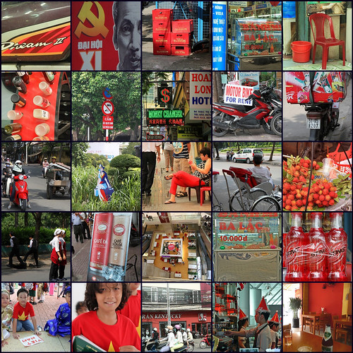Red Saigon mosaic