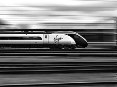 Pendolino at speed [Explored] (rowanC82) Tags: speed train motionblur crewe picnik virgintrains pendolino class390 390030