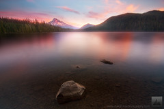Lost in Time - Lost Lake, Oregon (david.richter) Tags: sunset sky usa lake reflection nature rock clouds oregon forest canon landscape outdoors photography eos rebel volcano outdoor dusk hiking unitedstatesofamerica backpacking shore mthood wilderness legacy ghetto mounthood lostlake xsi davidrichter 450d rebelxsi noplumbing tokina1116mmf28atx116prodx wwwdavidrichterphotographycom 3140feet
