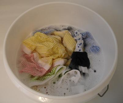 Clothes Soaking in OxiClean Water