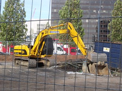 Construction site Masshouse Lane / Albert Street - JCB Covertron
