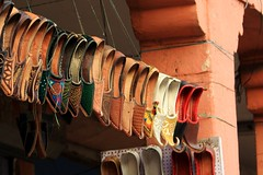 1, 2 Buckle my shoe, oh no i cant (stevefhobbs) Tags: street red india shoe toes scene line hanging mad buckle jaipur cobblers pointed manic