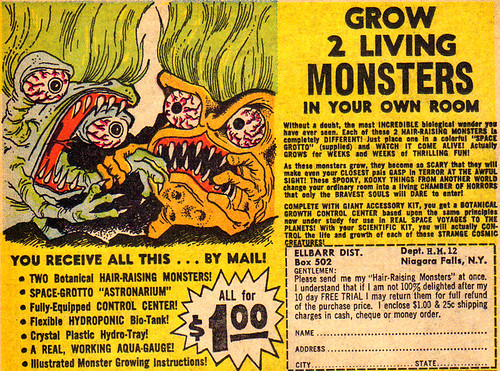 Vintage Ad #253: Grow 2 Living Monsters!