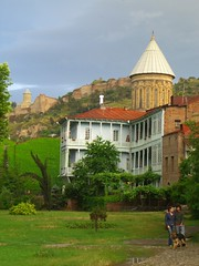 View of Sioni Cathedral and Narikala