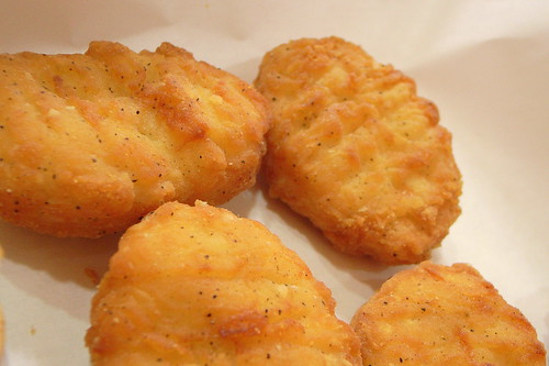closeup of chicken nuggets