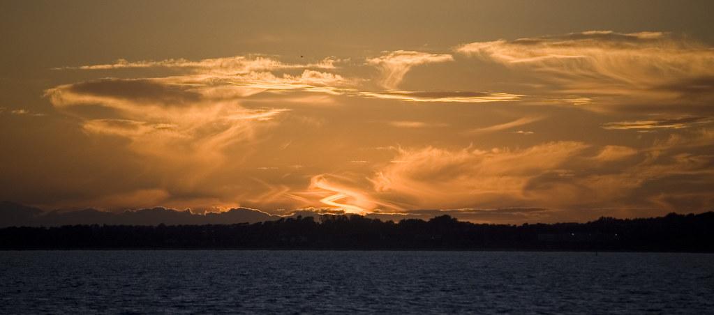 Sunset over portmarnock, Taken from Howth Peir