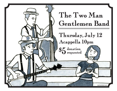 two man gentlemen band flyer