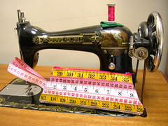 Measuring Tape Wristlet and my Sewing Machine