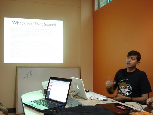 Manik presenting SOLR