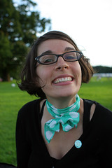 Lauren Gould (Davoud D.) Tags: lauren smile scarf liverpool neck glasses teeth knot canadian grin coventry gould specialsmile neckscarf gouldie laurengould
