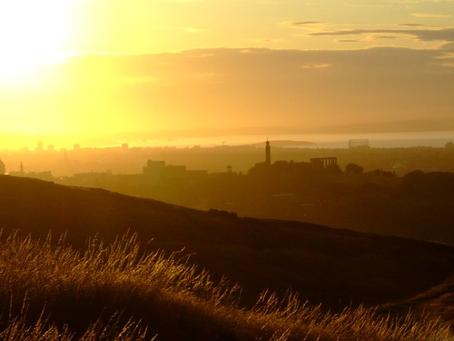 summer sunset from Arthur's Seat 1