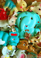 Trunk of Trunks (boopsie.daisy) Tags: color cute glass colors animals vintage ceramic stash colorful crystal many rubber collection plastic several pile multiple elephants trunks soe lots knickknacks trinkets winduptoy tons oodles squeaktoy supershot anawesomeshot