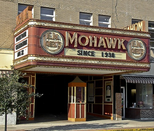 Mohawk Theater - North Adams, Mass -- neon sign americana movie jagendorf montreal north theater adams mass mohawk