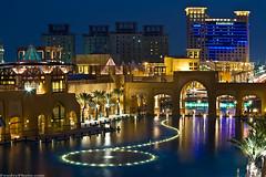 Alkout mall fountain (A.alFoudry) Tags: blue light sunset reflection castle fountain pool yellow night canon mall eos lights hotel is shot nightshot full dome frame 5d kuwait usm fullframe  domes symphony ef kuwaiti q8 70200mm abdullah rotana fahaheel alkout  kout canoneos5d f28l kuw vwc q80 canonef70200mmf28lisusm  xnuzha alfoudry almanshar  abdullahalfoudry foudryphotocom  fahahel kvwc kuwaitvoluntaryworkcenter  kuwaitvwc
