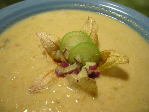 Corn and Tomatillo Chowder
