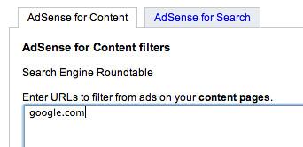 Banning Google in Adsense