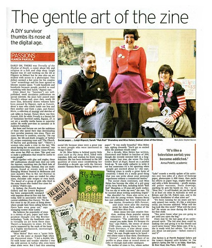 Spectrum article about The Zine factory.