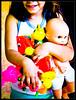 Look at Me! (fa73) Tags: color colors children toys colore child bambini plastic colori giocattoli plastica cicciobello