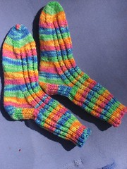 Jamie's rainbow socks