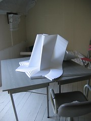 simple pleat large (polyscene) Tags: sculpture art paper studio 3d artist pattern space relief polly poly bas basrelief verity polyscene pollyverity 3dpattern