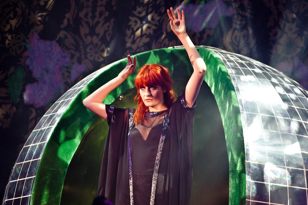 Florence & The Machine inside a disco ball type ball type thing