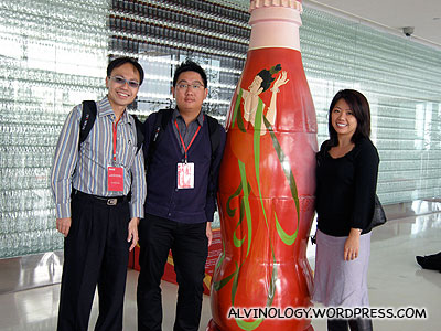 The Singapore team (L to R): Walter, me and June from Coca-Cola