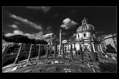 Roma (sysko20) Tags: city bw italy sculpture rome roma history church architecture clouds europe italia fuji eu finepix foroditraiano sysko s8000fd bestcapturesaoi mygearandmepremium ringexcellence