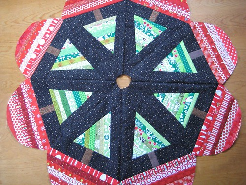 Starry night tree skirt by Poppyprint