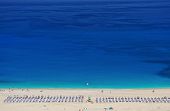 Myrtos Beach, Kefallonia, Greece (ConstantineD) Tags: summer beach nikon explore greece greekislands ioniansea cnx myrtos kefallonia ionian 2470mm 2470mmf28 explored capturenx d700   lpbest2010 lprows lp2011winners
