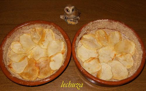 Pastel de pescado y marisco-base patatas