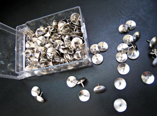 silver tacks+bar DIY+easy home decorating
