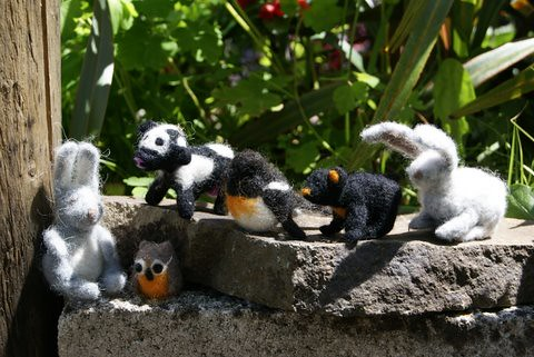 needle felted critters