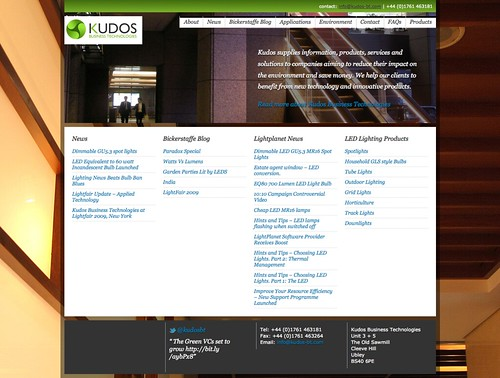 Kudos Business Technologies | LED Lighting and Sustainable Technology for Business
