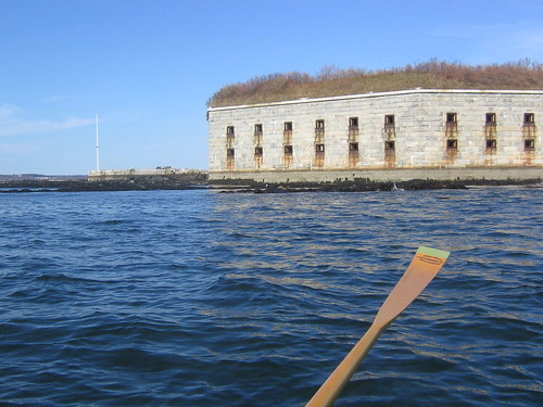Fort Gorges in Portland Harbor