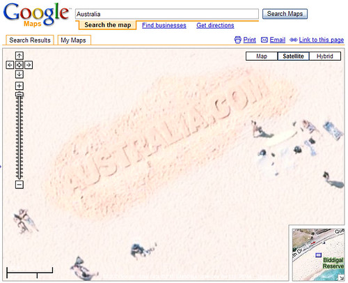 Australia.com in Google Maps