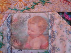 Detail Baby Bob (Debra Hurter) Tags: embroidery crazyquilt seams
