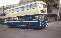 WMPTE MCW Metrobus MKII No 2883 when new 16th July 1985 (Lady Wulfrun) Tags: new castle birmingham mk2 1980s 1985 mkii metrobus mcw quinton weoley 2883 wmpte